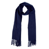 navy Classic Woven Scarf