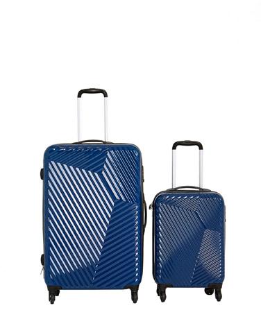 blueHard Shell Four Spinner Wheel Luggage