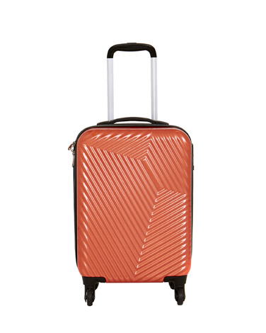 orange Hard Shell Four Spinner Wheel Luggage
