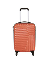orangeHard Shell Four Spinner Wheel Luggage