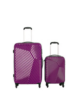 purple Hard Shell Four Spinner Wheel Luggage