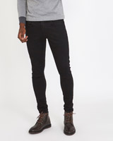 black Paul Galvin Black Stretch Jeans