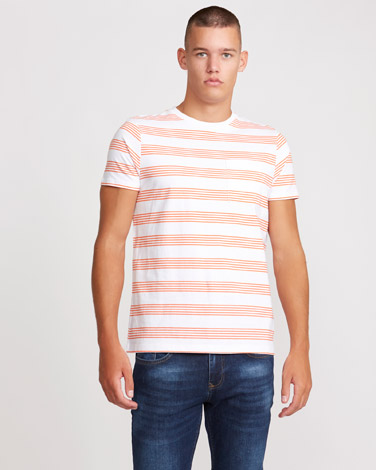 086fdf1bd05b orange Paul Galvin Orange Stripe T-Shirt