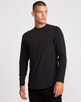 black Paul Galvin Long Sleeve Top