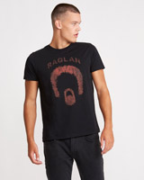charcoal Paul Galvin Band Print T-Shirt