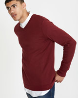 wine Paul Galvin Wine Stretch V-Neck Knit