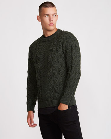 Paul Galvin Traditional Aran Jumper