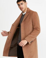 tan Paul Galvin Single Breasted Overcoat
