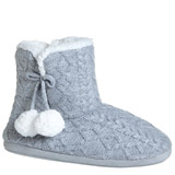 grey Heart Knit Bootie