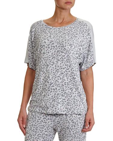 94a86914a8 grey Animal Print Pyjama Top