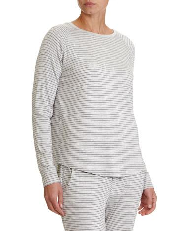 grey-marlStripe Marl Pyjama Top
