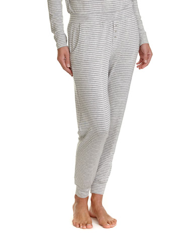 grey-marlStripe Pyjama Pants