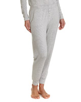 grey-marl Stripe Pyjama Pants