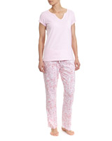 pinkPaisley Print Pyjama Set