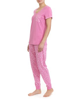 pink Cotton Ditsy Pyjamas