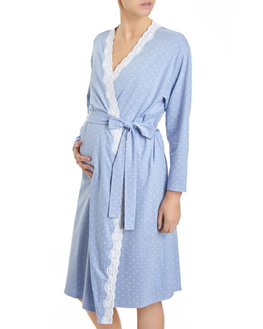 blue Maternity Wrap