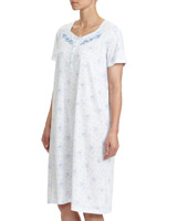 blue Embroidered Nightdress