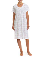 grey-marl Stripe Nightdress