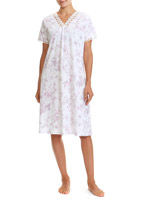 lilac Mesh Neck Nightdress