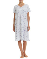 blue Floral Nightdress