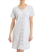 grey-marl Button Through Nightdress