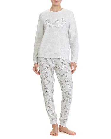 greyPug Micro Fleece Pyjamas