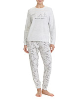 grey Pug Micro Fleece Pyjamas