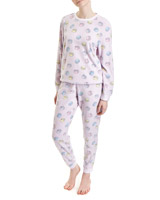 multi Macaroon Print Micro Fleece Pyjamas