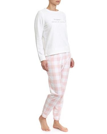 pinkCheck Micro-Fleece Pyjamas