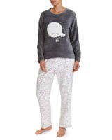 charcoal Moon Fleece Pyjamas