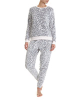 multi Animal Fleece Pyjamas