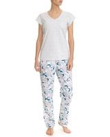 grey-marlPalm Print Pyjamas
