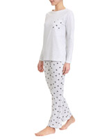 grey-marl Heart Pyjamas