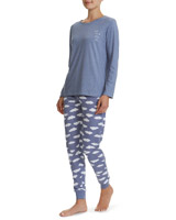 blue Cloud Print Pyjamas