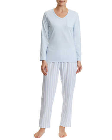 blue-stripe Lurex Pyjama Set