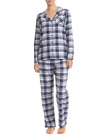 navy Navy Check Pyjamas