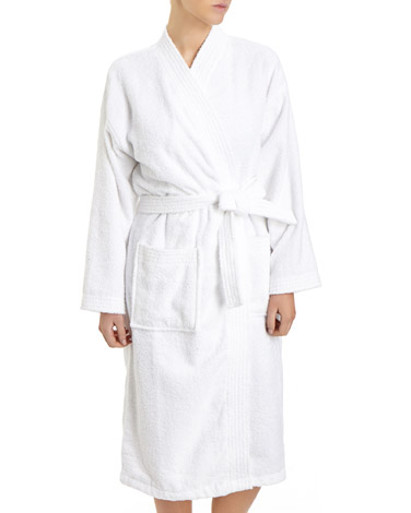 white Cotton Towelling Robe