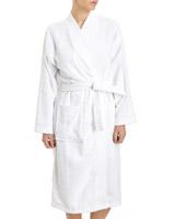 whiteCotton Towelling Robe