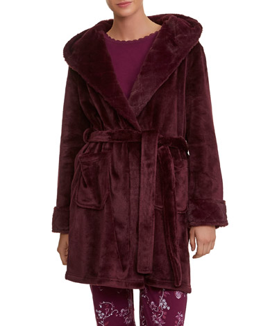 Dressing Gowns And Wraps Pink Fur Trim Wrap Dunnes Stores