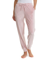 blush Velour Cuffed Pants