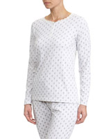 printPrinted Henley Pyjama Top