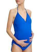blue Maternity Tankini