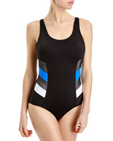 black Mesh Sport Swimsuit