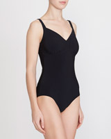black Ruched Cup Swimsuit