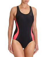black-coral Curve Sports Swimsuit