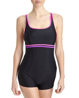 pink-black Swimshort
