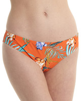 orange Print Bikini Briefs