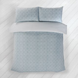 blue Carolyn Donnelly Eclectic Geo Tile Duvet Set