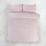 pink Carolyn Donnelly Eclectic Geo Block Duvet Set