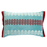 aqua Carolyn Donnelly Eclectic Embroidered Boudoir Cushion